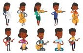 Vector set of media people characters