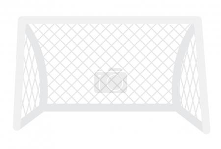 Football gate with net vector cartoon illustration