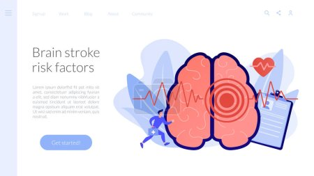 Stroke concept landing page.