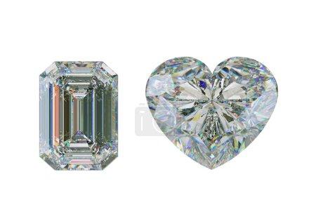 Top view of diamonds