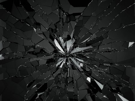 Shattered or demolished glass