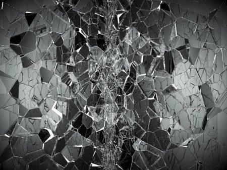 Damaged or broken glass