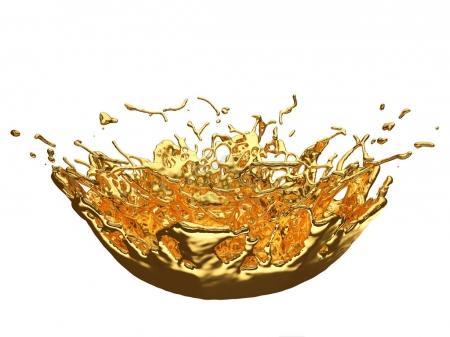 Liquid gold or oil splashes