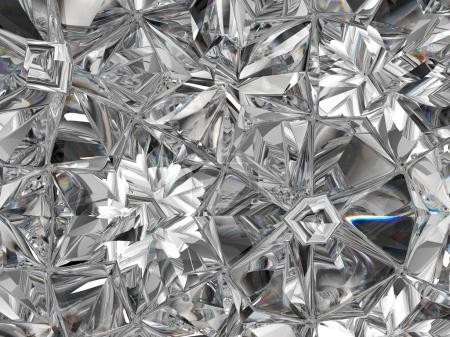 precious diamond structure extreme closeup kaleidoscope. top view of round gemstone 3d render, 3d illustration