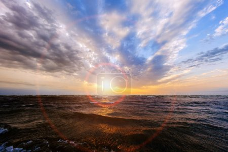 Photo for Beautiful sun rise at beach. Nature - Royalty Free Image