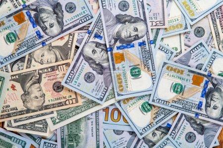 Photo pour Dollars américains, billets, gros plan - image libre de droit