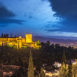 The Alhambra, a palace and fortress complex origin...