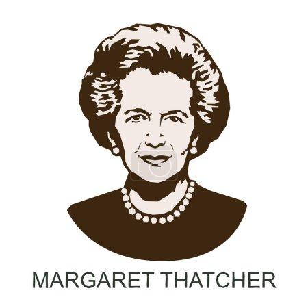 silhouette Margaret Thatcher