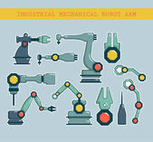 Set Robotic arms icons