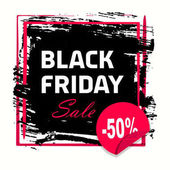 Grunge abstract black friday banner Black Friday sale inscription design template Black Friday banner Vector illustration Grunge banner with an inky dribble strip with copy space