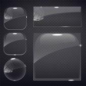 """Постер, картина, фотообои """"набор из прозрачного стекла на фоне образца."""""""