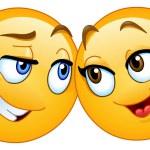 Vector loving emoticons couple...