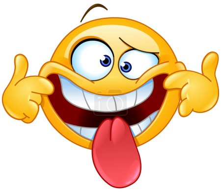 Illustration for Emoticon making a funny face - Royalty Free Image