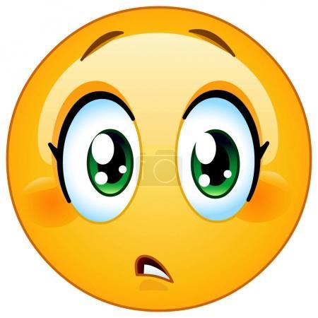 Slight concern female emoticon