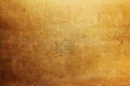 Photo pour Texture en métal fond doré ancien - image libre de droit