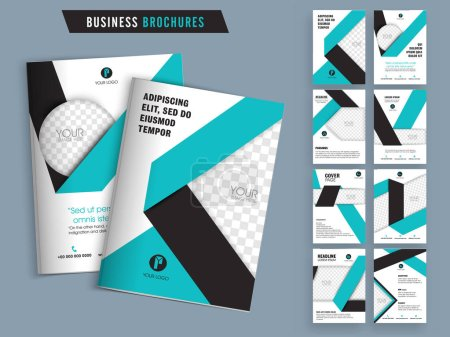 Photo for Creative brochure design set, Professional template layout with space for image and text, Business flyers with cover, inner and back pages presentation. - Royalty Free Image