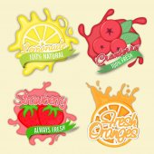 Creative Stickers Tags or Labels set of Fruits