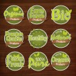 Постер, плакат: Set of Organic Products Stickers Tags or Labels