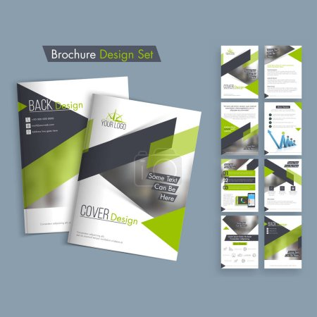 Illustration for Creative Business Brochure Design. - Royalty Free Image