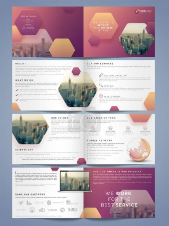 Illustration for Complete pages Brochure, Flyer, Banner or Template for Business Concept. - Royalty Free Image