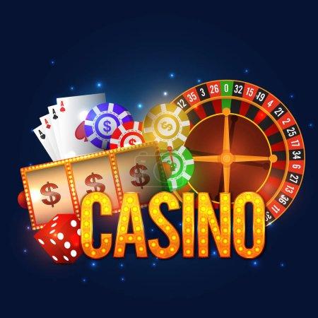 Casino Poster, Banner or Flyer design.
