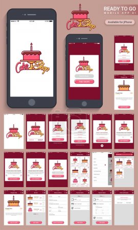 Food Mobile Apps User Interface layout.