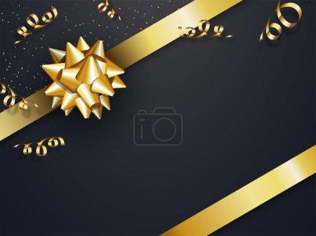 Celebration background with golden ribbon.