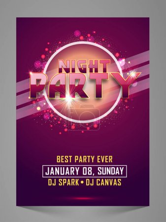 Elegant Night Party Celebration Flyer.