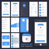 Medical App UI UX and GUI kit