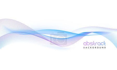 Illustration for Creative abstract background with glossy waves. - Royalty Free Image