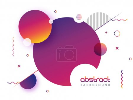 Illustration for Creative abstract geometric background with glossy circles. - Royalty Free Image