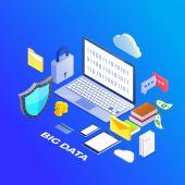 Big data machine alogorithms concept saftey and security concep