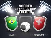 Russia 2018 soccer championship league match between Brazil V/