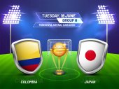 Russia 2018 soccer championship league match between Colombia