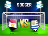 Russia 2018 soccer championship league match between Egypt v/s