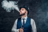 Man smoking an electronic cigarette