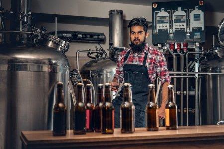 Manufacturer presenting craft beer