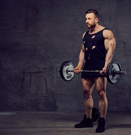 Huge bearded bodybuilder