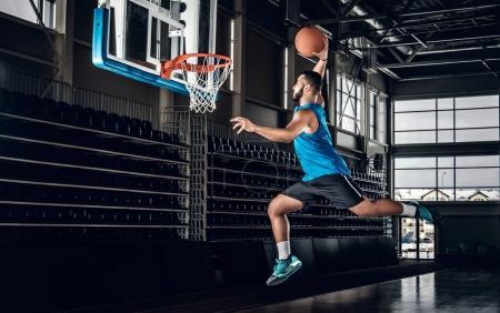Black professional basketball player