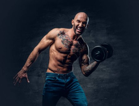 Man with tattoos on his chest