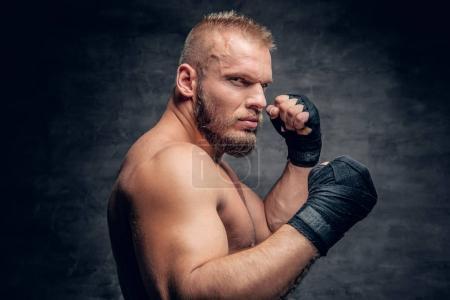 Brutal bearded fighter