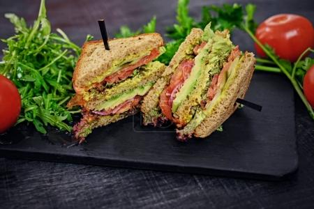 Vegetarian sandwiches with tomatoes