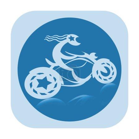Motor biker icon