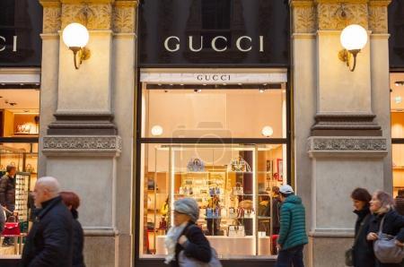 Shop windows of Gucci store