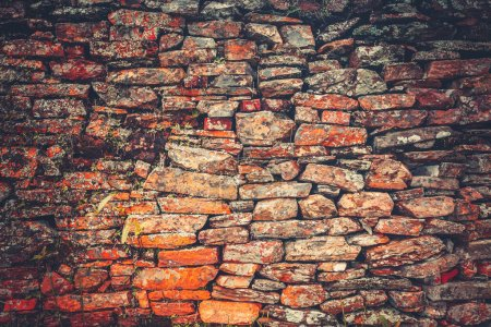 Vintage wall. Tawny bricklaying. Background.