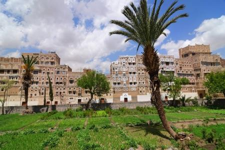 Photo for Yemen. The old city of Sanaa. Inhabited for more than 2.500 years at an altitude of 2.200 m, the Old City of Sanaa is a UNESCO World Heritage City now destroyed by the civil war - Royalty Free Image