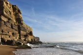 Atlantic Ocean coast, Azenhas do Mar village, Sintra, Lisbon, Po