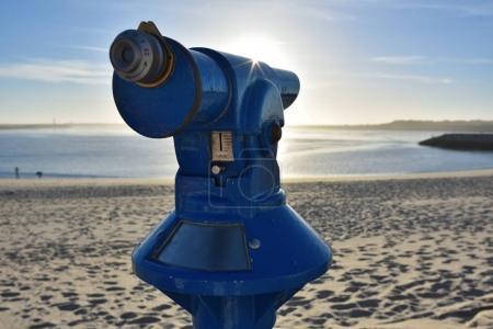 Tourist Telescope, Aveiro Beach, Portugal