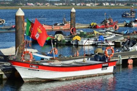 Fishing boat in Costa Nova, Portugal