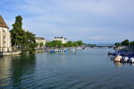 The Limmat river in Zurich, Switzerland